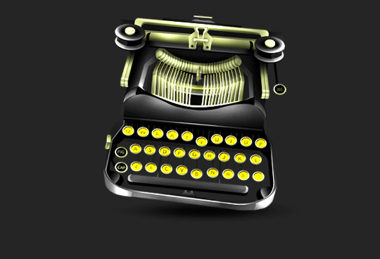 typewriter illustration for the header